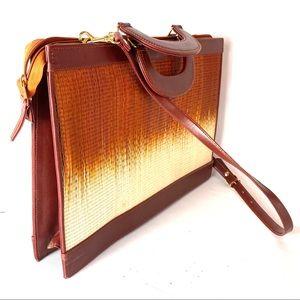 Vintage 70's SAC woven brief case bag
